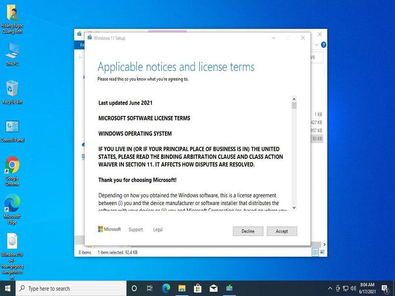 Cách cài đặt Windows 11 khi PC/Laptop đã tương thích với TPM
